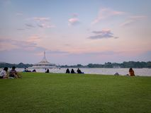 Sunset view in Suan Luang , Thailand royalty free stock photo