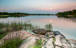 Sunset time in Seurasaari Helsinki Royalty Free Stock Images