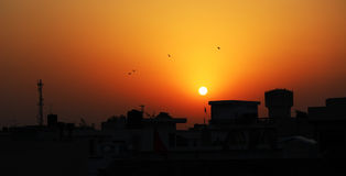 SUNSET - TIME TO RETURN HOME - LANDSCAPE Royalty Free Stock Photos