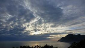 Sunset timelapse of the Atlantic near Hout Bay. Sunset timelapse of the Atlantic ocean near Hout Bay stock video footage