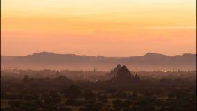 Sunset Timelapse in Bagan, Myanmar stock video