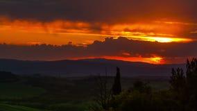 Sunset, timelapse . Tuscany, Italy
