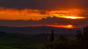Sunset, timelapse . Tuscany, Italy stock video footage