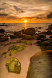 Sunset at Tindakon beach Royalty Free Stock Images
