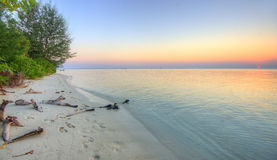 Sunset on a Tiny Indonesian Island Stock Photography