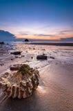 Sunset at tioman beach Stock Photo