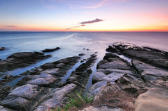 Sunset at Tip of Borneo,Sabah,Malaysia Stock Photography