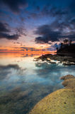 Sunset at tips of Borneo Royalty Free Stock Photo