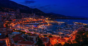 Sunset to Iluminated Monte Carlo(day to night) stock video