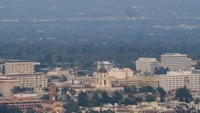 Sunset to night timelapse of the beautiful Pasadena City hall and Pasadena downtown view