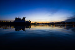 Sunset to the port Stock Photography