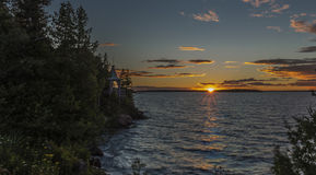 Sunset on Tobermory. Tobermory Sunset at the Chi-Cheemaun dock in Tobermory Royalty Free Stock Photos