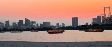 Sunset of Tokyo Bay Royalty Free Stock Image