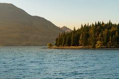 Sunset tone at Lake Wakatipu Queentown, South Island New Zealand Stock Images