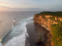 Sunset from the top of cliff Royalty Free Stock Photo