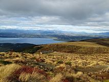 Cloudy afternoon in the New Zealand, view point stock photos