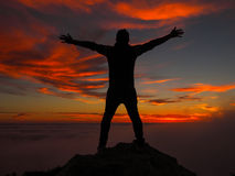 Sunset on the top Stock Photography