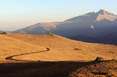 Sunset at Top of Trail Ridge Road Stock Photography
