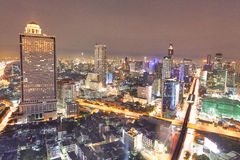 Sunset at Top view of Building, Bangkok, Thailand Stock Photography