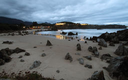 Sunset in Toro beach in Llanes Royalty Free Stock Image