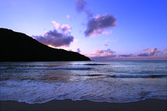 Sunset in Tortola Virgin Islands Royalty Free Stock Photography