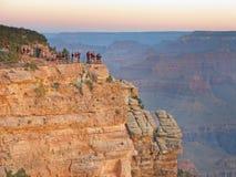 Sunset tourism Grand Canyon Royalty Free Stock Image