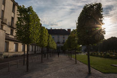 Sunset in Tours. Summer evening in Tours, France Stock Images