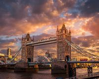 Sunset at the Tower Bridge royalty free stock images
