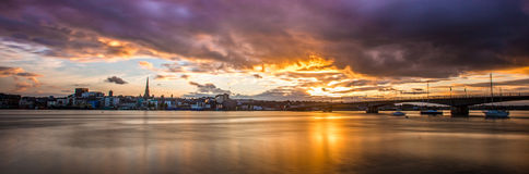 Sunset Town. Sunset on Wexford Town, Ireland Royalty Free Stock Image