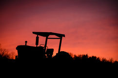 Sunset Tractor Stock Image