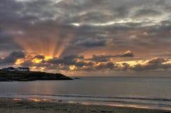 Sunset at Trearddur Bay Royalty Free Stock Photos