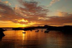 Sunset at Trearddur Bay Royalty Free Stock Image