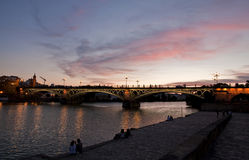 Sunset in Triana Stock Images