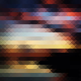 Sunset triangle abstract background. Sunset pixel triangle geometric abstract colorful background, vectro backdrop for design Vector Illustration