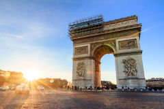 Sunset Triomphe Stock Photography