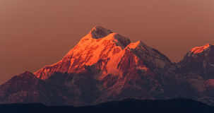 Sunset at Trishul Peak Stock Image