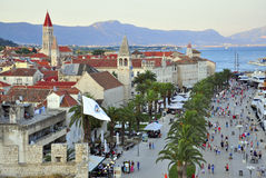 Sunset in Trogir Stock Images