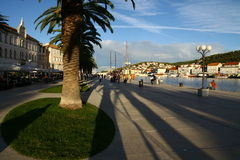 Sunset in Trogir town Stock Images