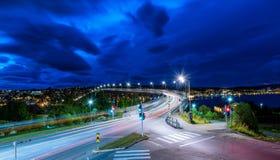 Tromsø bridge by night Royalty Free Stock Image