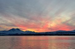 Sunset at Tromso Royalty Free Stock Images