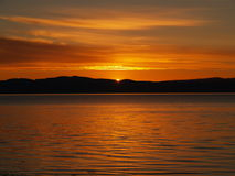 Sunset in Trondheim Royalty Free Stock Photo