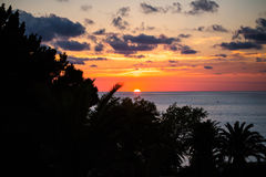 Sunset in Tropea, Calabria Royalty Free Stock Photo
