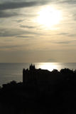 Sunset on Tropea cathedral (Calabria, Italy) Royalty Free Stock Photo