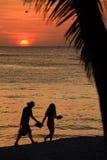 Sunset of tropic island Stock Photo