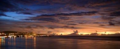 sunset tropical στοκ εικόνα με δικαίωμα ελεύθερης χρήσης