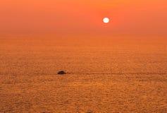 Sunset on tropical beach at andaman sea Royalty Free Stock Photo