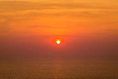 Sunset on tropical beach at andaman sea Royalty Free Stock Image