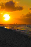 Sunset at a tropical beach in Cuba Stock Photo