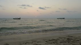 Sunset at Otres beach in cambodia. Sunset at Tropical beach in otres in cambodia stock video