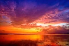 Sunset at tropical beach Stock Photos